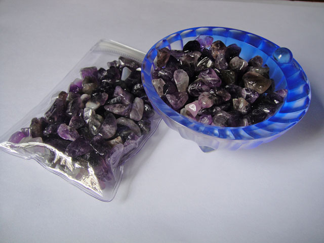 Tumbled Amethyst Crystal Chips
