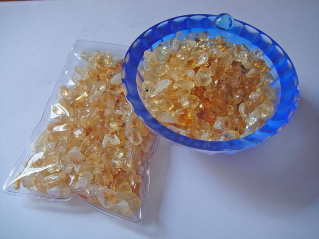 Tumbled Citrine Crystal Chips